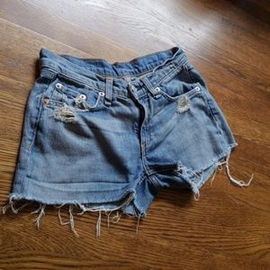 rag & bone Shorts - Rag & bone Frayed Jean Shorts